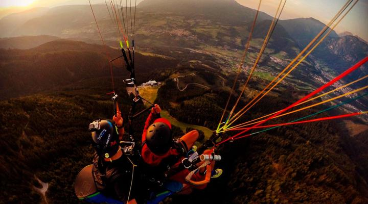Paragliding and hang-gliding in the Fiemme Valley