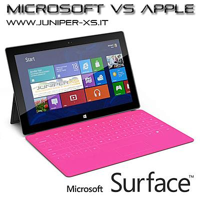 Tablet Microsoft Surface  sfida l'Ipad di Apple