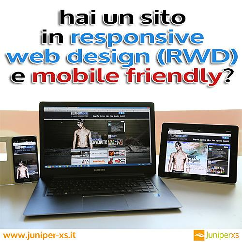 un sito in responsive web design (RWD) e mobile friendly
