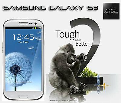 Samsung Galaxy S3 Android 4 Gorilla Glass 2