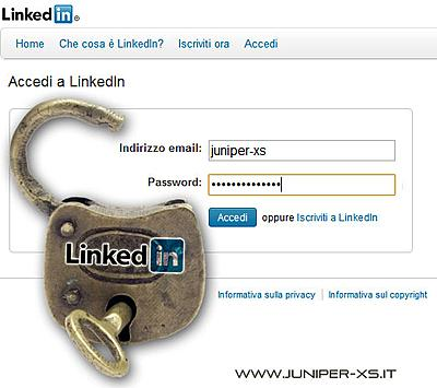 linkedin social network professionale hacked password rubate