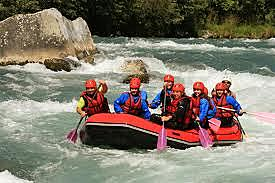 Rafting canyoning Val di Fiemme Avisio