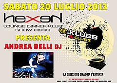 Special guest from 105 in da klubb ANDREA BELLI