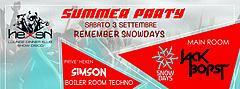 Remember Snowdays Summer Party Hexen Klub