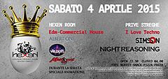 SABATO 4 APRILE - THE EASTER PARTY AT HEXEN KLUB CANAZEI