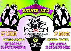 ZUMBA PARTY 27 LUGLIO 2013 ALL'HEXEN CLUB NELLA AREA STREGHE