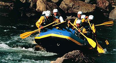 mountain bike rafting parapendio